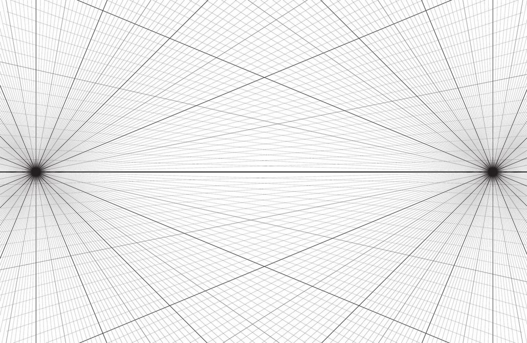 Perspective Grids on One Point Perspective Drawing