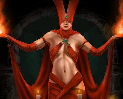 Red Sorceress by Adam Miconi