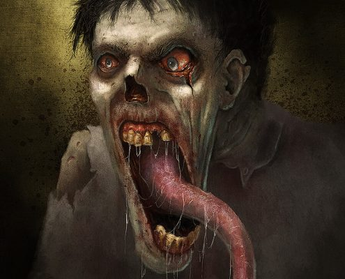 Long Tongue Zombie by Adam Miconi