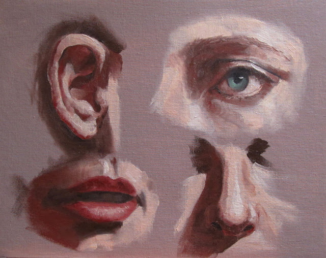 Facial Features Painting Study in Oil