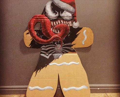Venom Gingerbread Man by Adam Miconi