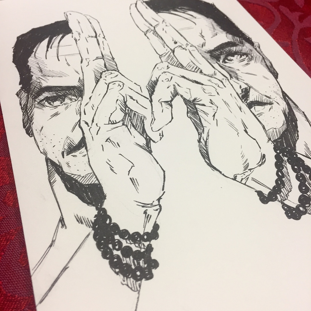Inktober Day 2 Divided by Adam Miconi