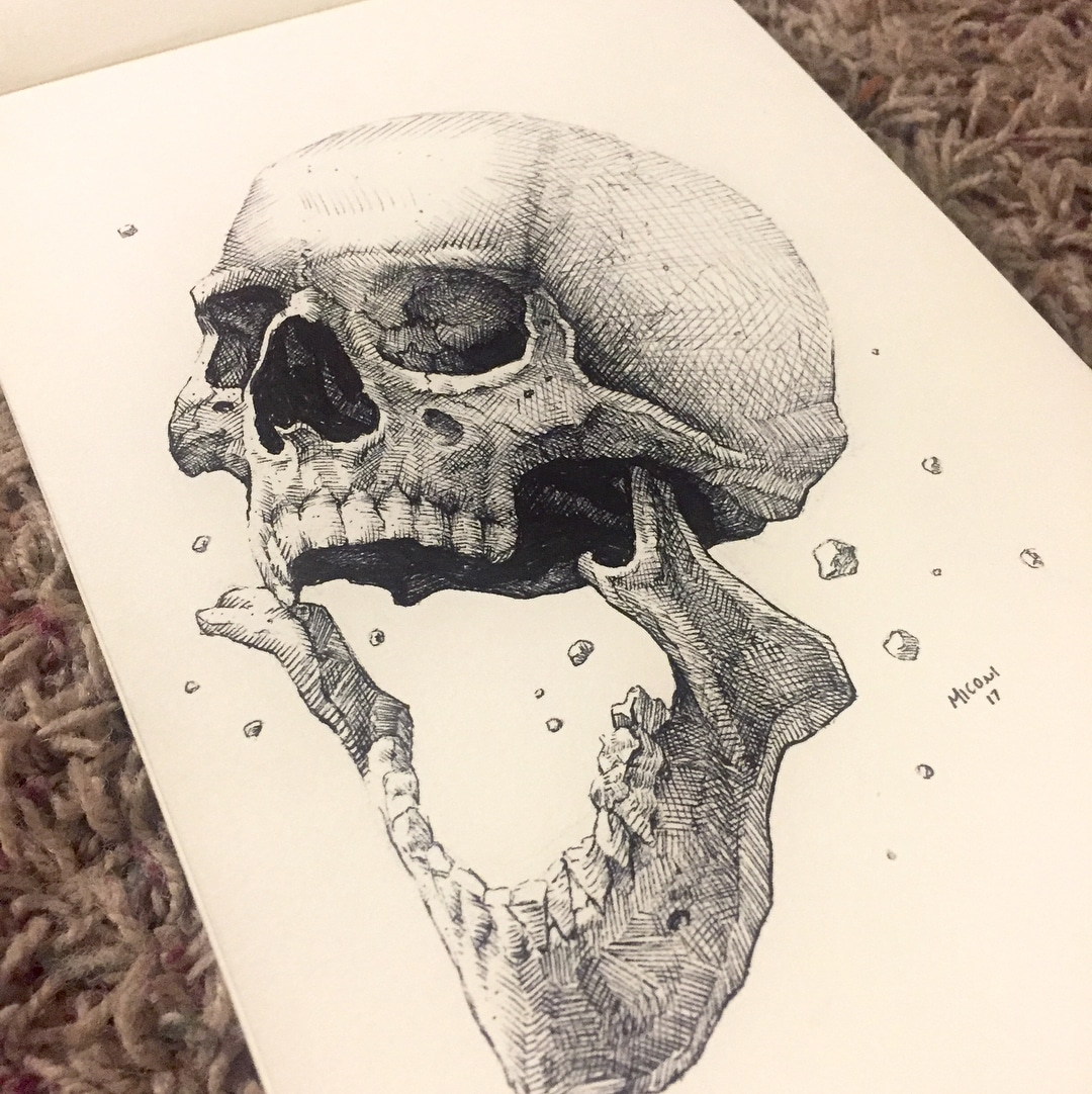 Inktober Day 8 Crooked by Adam Miconi